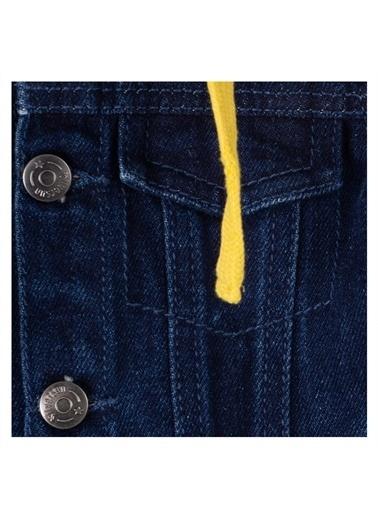 Silversun Kids Koyu Yakalı Kağşonlu Cepli Önden Düğmeli Uzun Kol Bebek Erkek Mont Mc 115075 Mavi